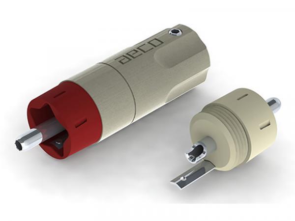 AECO ARP-4045S Silver-Plated Tellurium Copper RCA Male Plugs Set/4
