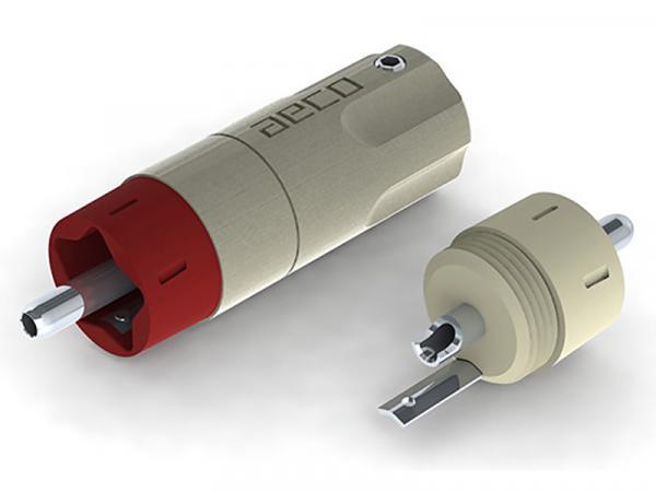 AECO ARP-4055 Pure Silver RCA Male Plugs Set/4