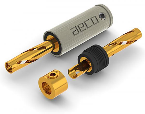 AECO ABP-1111G Gold-Plated Tellurium Copper Banana Plugs