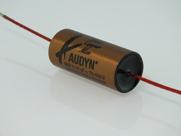 Audyn True Copper Max Capacitors, 0.10uF 630Vdc, 2% Tolerance, Foil Capacitor