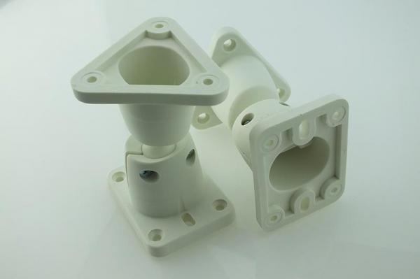 B-TECH BT6 Ball Joint Multi-Angle Speaker Brackets (White)