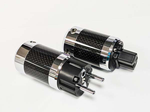 Carbon Fiber Aluminum EU (Schuko) Power/15A IEC Plugs