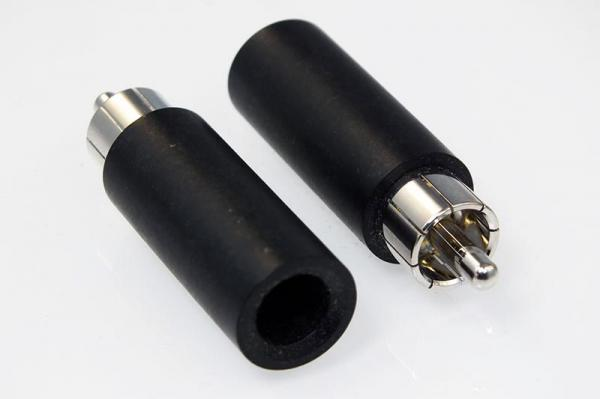 Duelund Connector RCA Male Plugs Rhodium