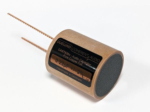 Duelund 0.22uF 630Vdc CAST-PIO-Cu Pure Copper Foil Capacitor