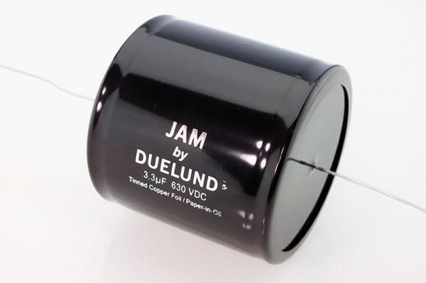 JAM by Duelund Capacitor 3.3uF 630Vdc,Tinned Copper (Cu) Foil, Paper-in-Oil
