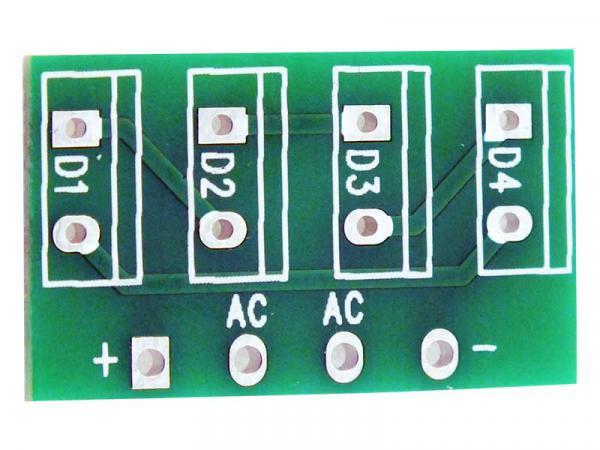 Discrete Bridge Rectifier PCB - TYPE 2 (TO-220 Radial Style)