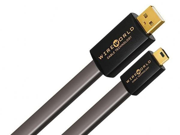 Wireworld Silver Starlight 7 USB A to Mini B Flat Cable (2M)